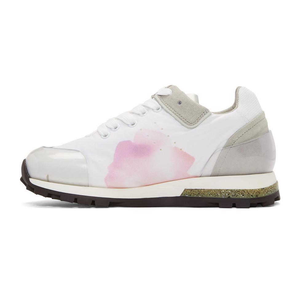 White Joriko Flower Sneakers Acne Studios mscmMgjWg
