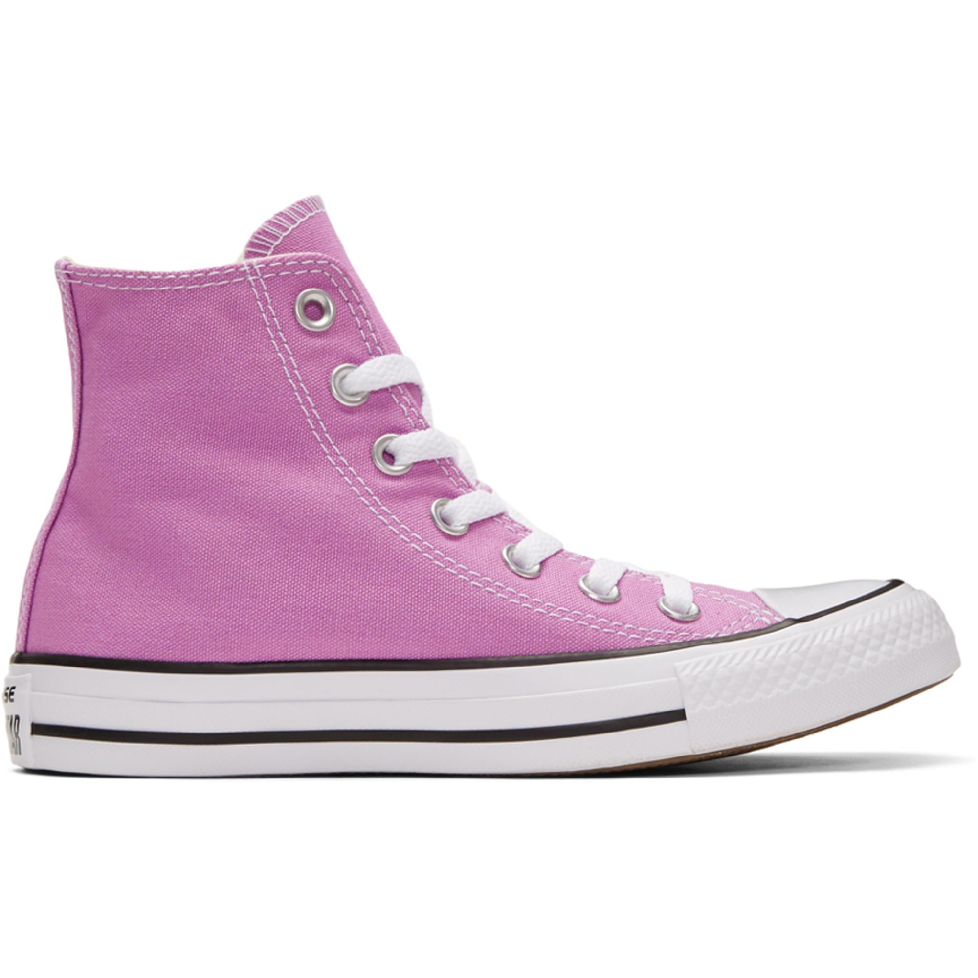 da6090f607ead Baskets montantes violettes Classic Chuck Taylor All Star OX ...