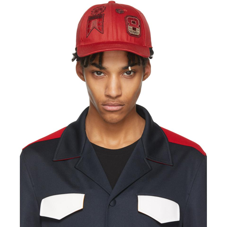 4650c0f80a6 Lyst - Valentino Red Garavani Embroidered Cap in Red for Men