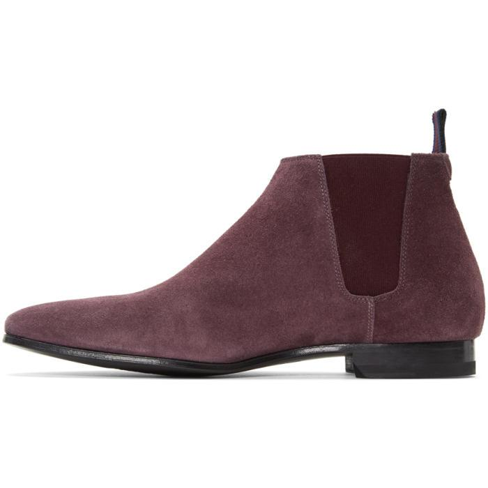 Lyst Paul Smith Burgundy Suede Marlowe Chelsea Boots In