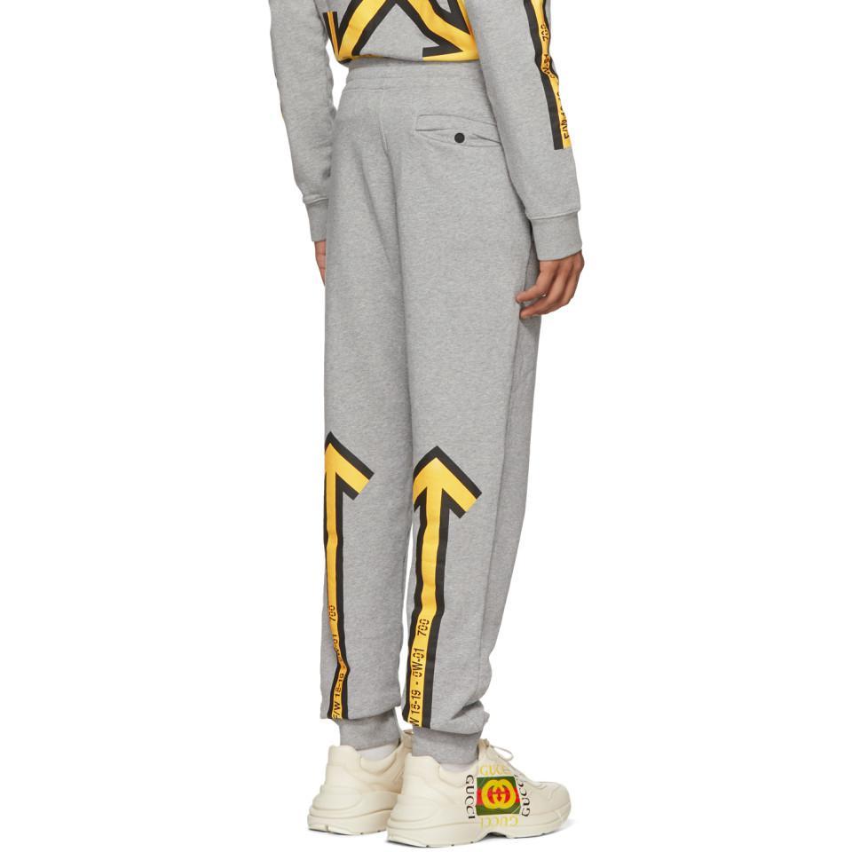Vente de liquidation 2019 nouveaux styles qualité de la marque Off-White c/o Virgil Abloh Grey Arrows Sweatpants in Gray ...