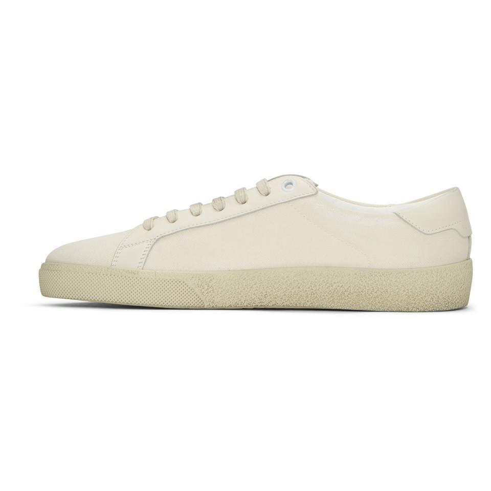Saint LaurentDamaged Canvas Court Classic SL06 Sneakers p1Olw5