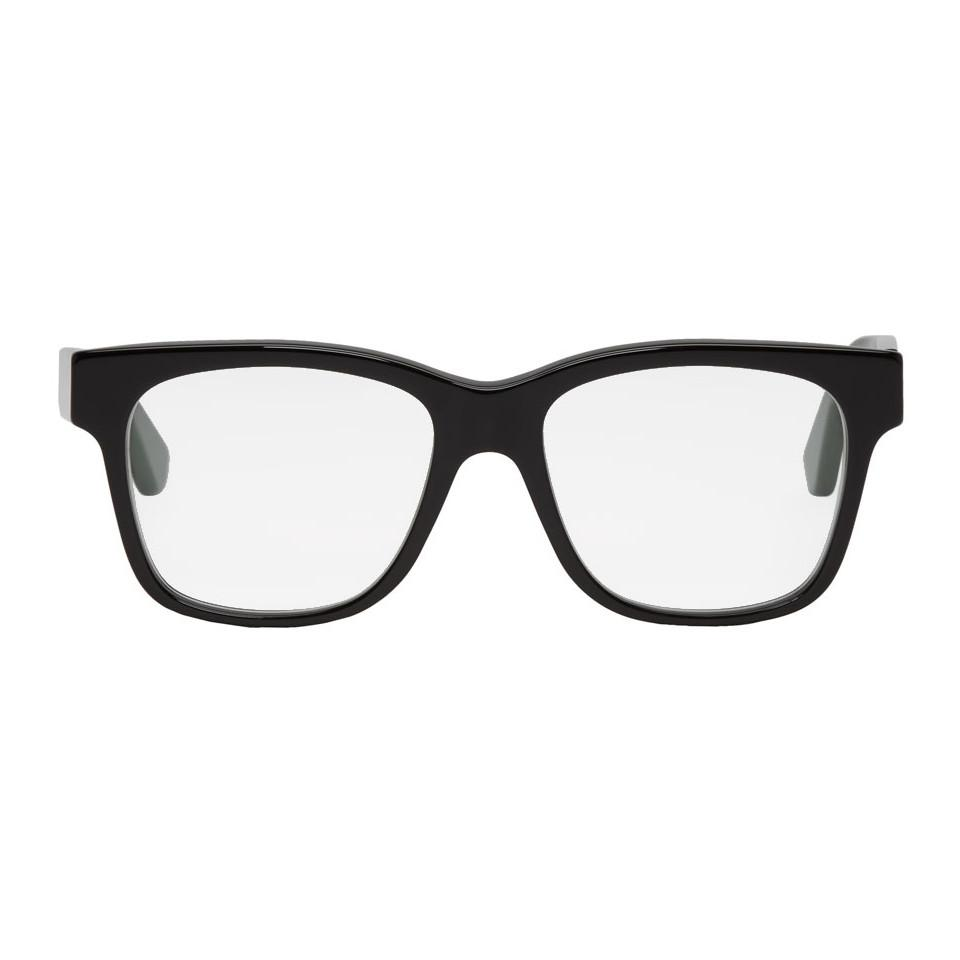 6a20654b2a5 Lyst - Gucci Black Web Square Glasses in Black for Men - Save 7%