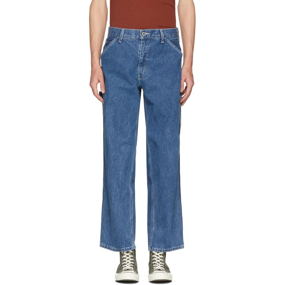 8137d17a Levi's Blue Baggy Silver Tab Carpenter Jeans in Blue for Men - Lyst