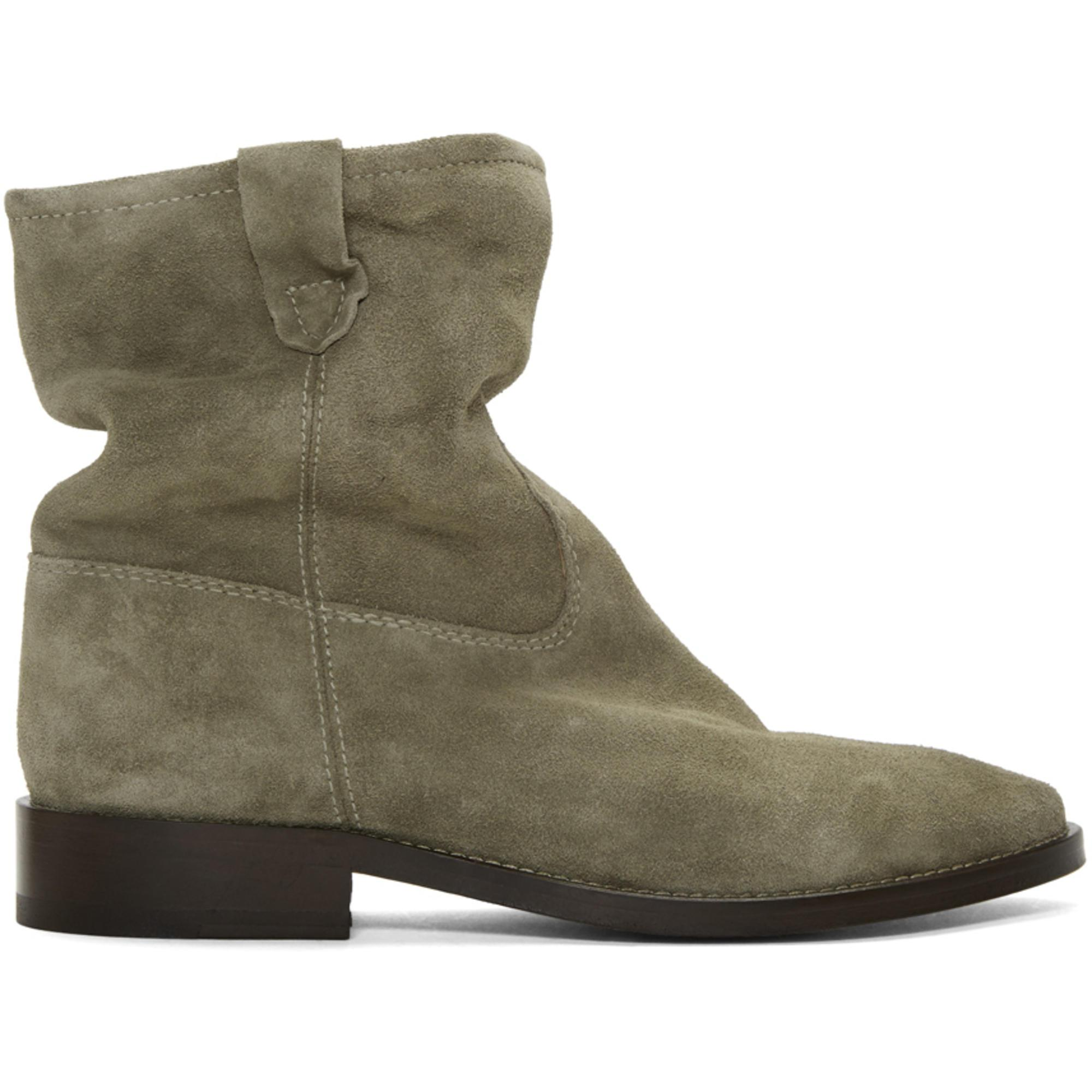 88c4ec4839a1 Isabel Marant Brown Cryston Velvet Boots in Brown - Lyst