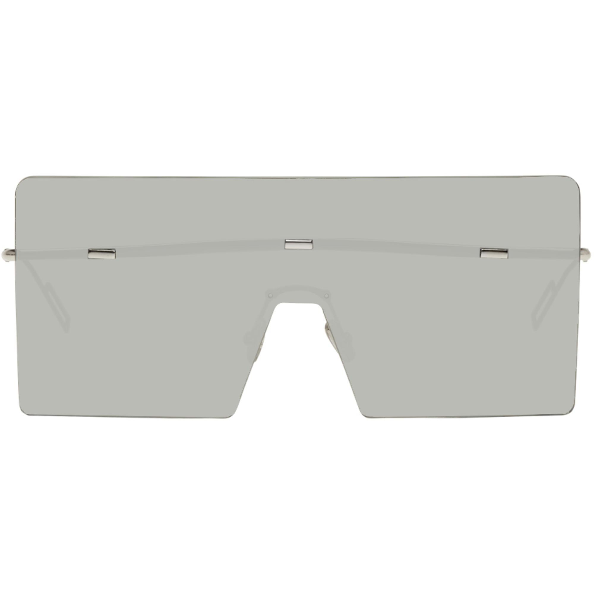 9fe93b245d25 Dior Homme Silver Hardior Shield Sunglasses in Metallic for Men - Lyst