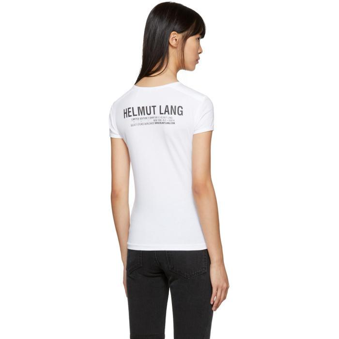 8f97738f9 Lyst - Helmut Lang White Logo Baby Fit T-shirt in White