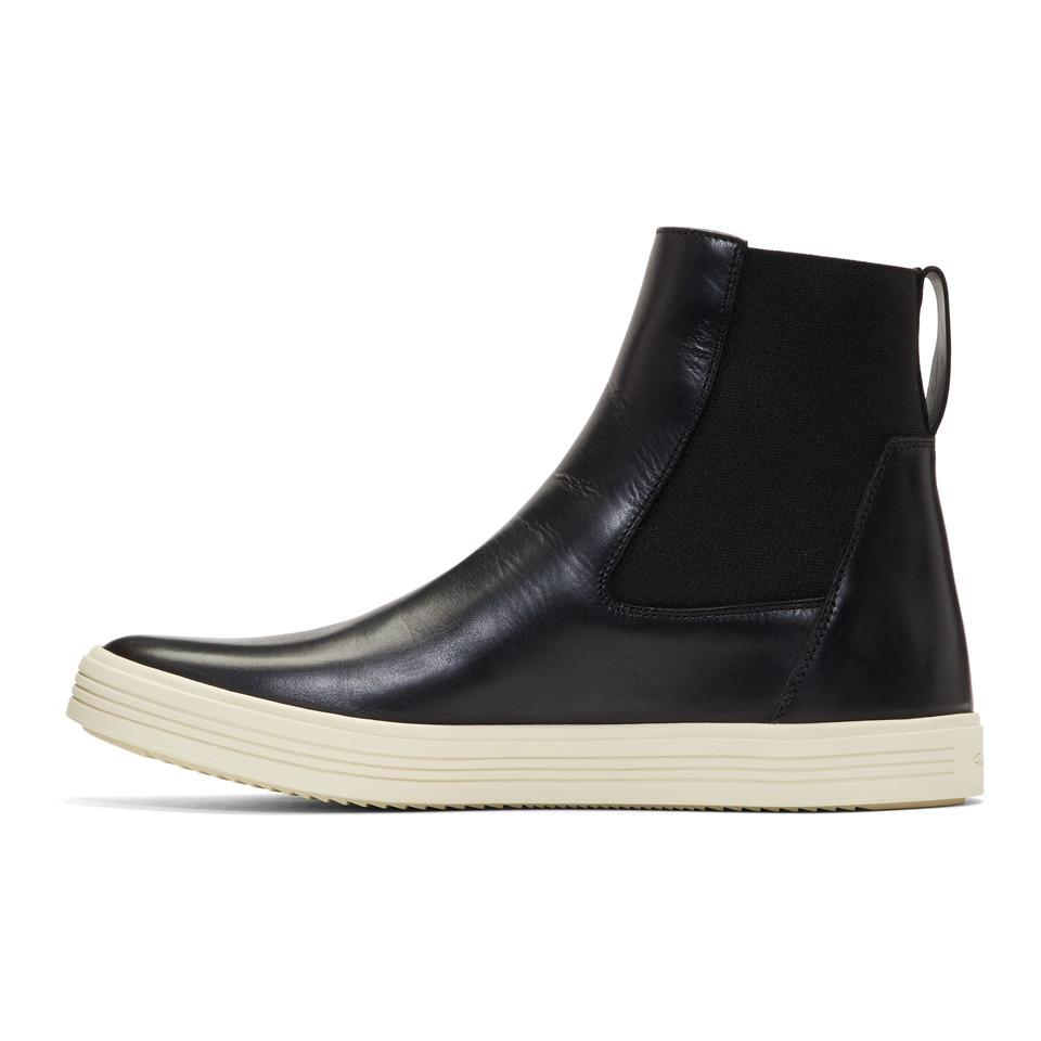 Rick Owens Black & Off-White Leather Mastodon Boots Sv3PYu