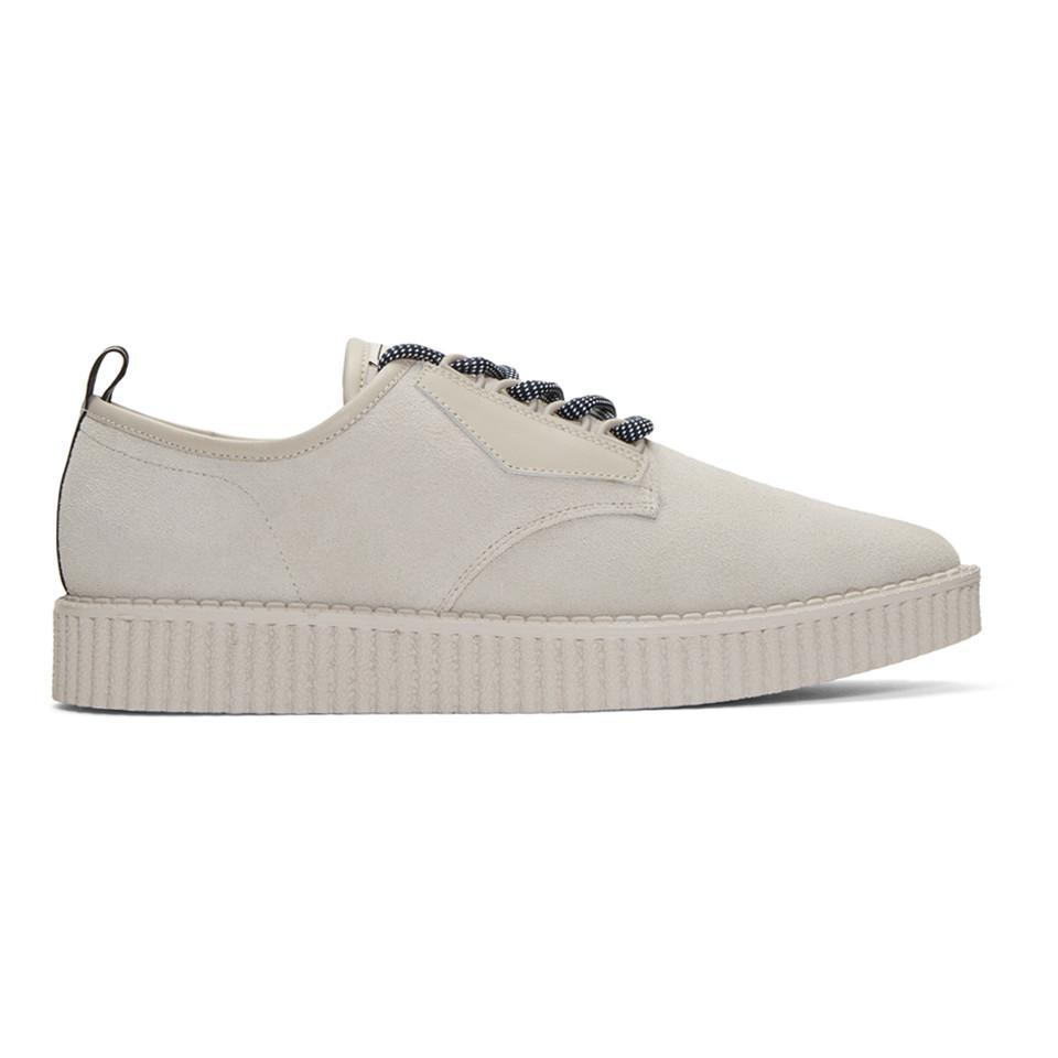 Lyst - Miharayasuhiro Grey Creeper Sneakers in Gray for Men 68c926882