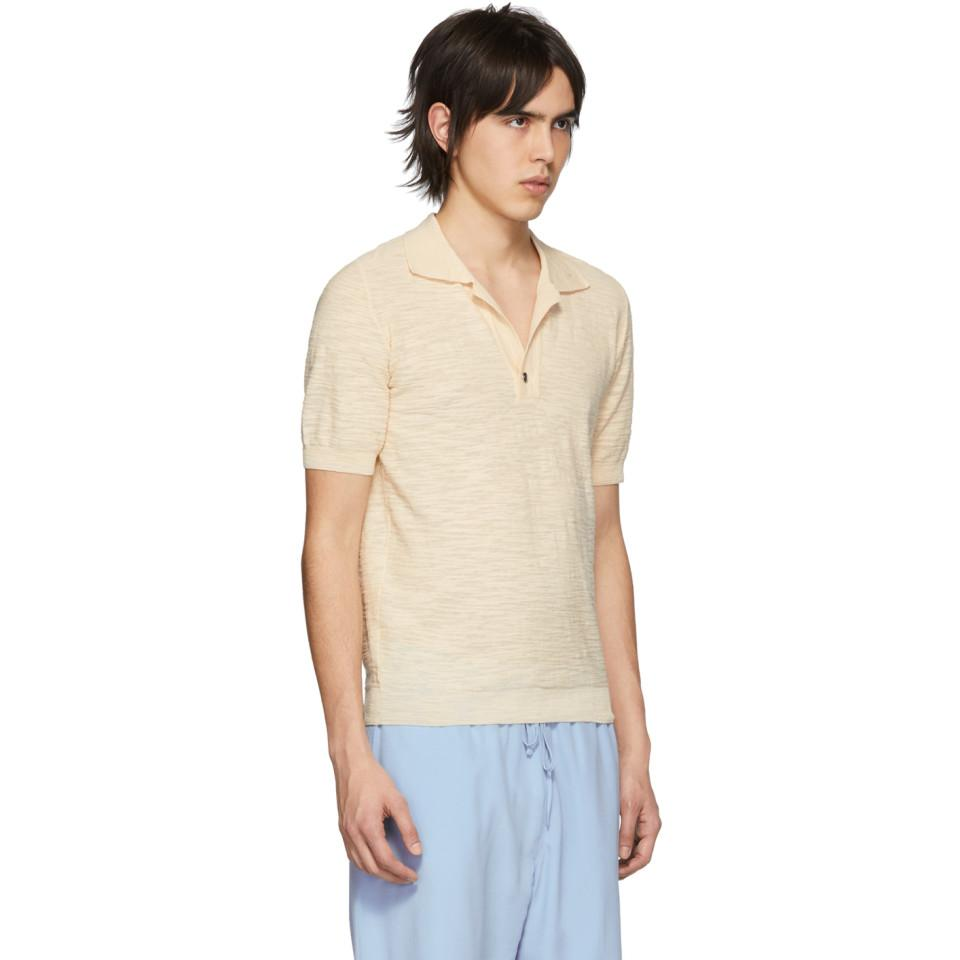 ddf3a0e59d3f85 Jacquemus Beige Le Polo Polo in Natural for Men - Lyst