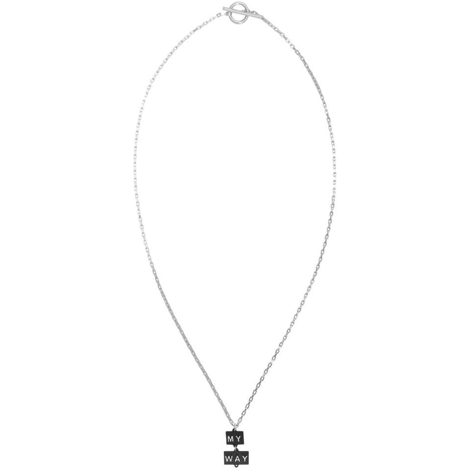 OAMC My Way necklace - Metallic LPUiW2mD