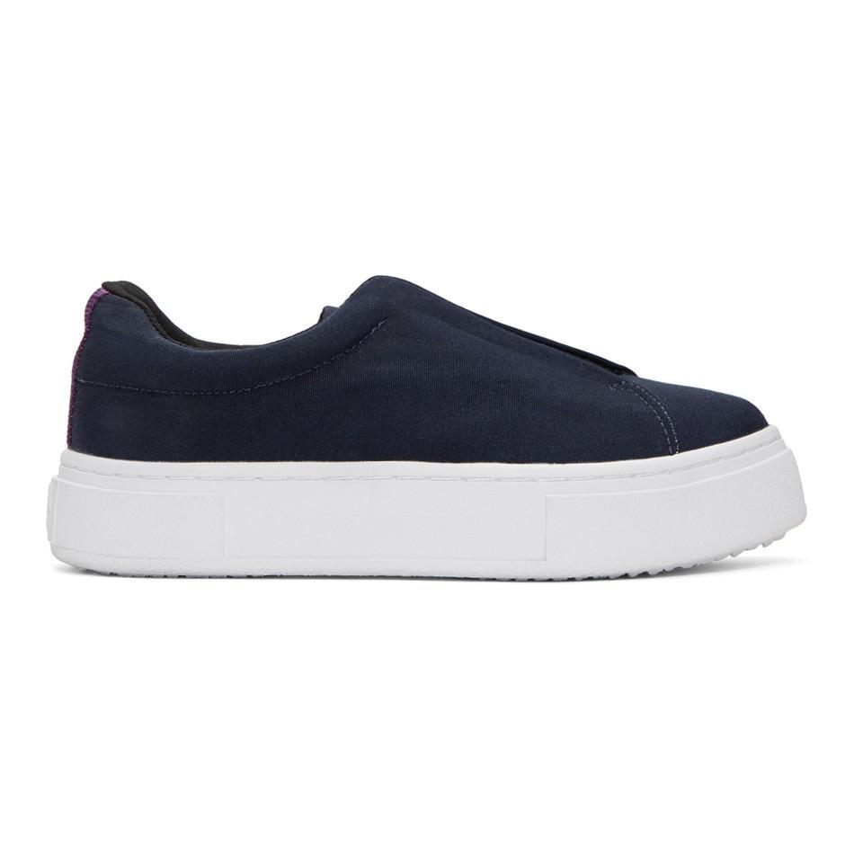 Navy Canvas Doja Slip-On Sneakers Eytys FeROQPrScC