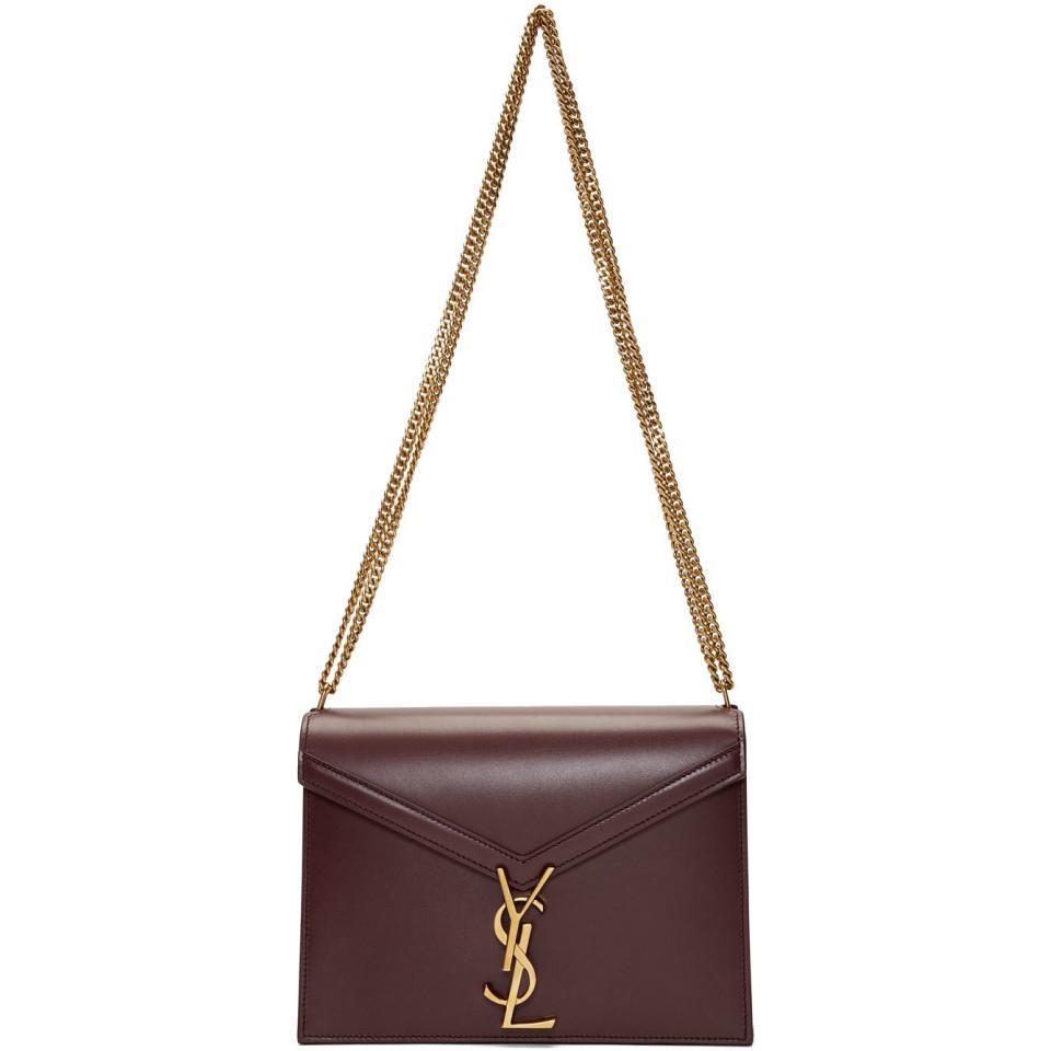 cfe5a0fbaf146 Saint Laurent Red Cassandra Envelope Bag in Red - Lyst