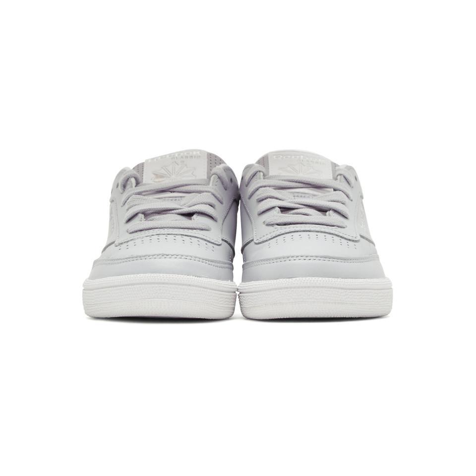 adff2fa4ab0 Reebok - Gray Grey Club C 85 Perforated Sneakers - Lyst. View fullscreen