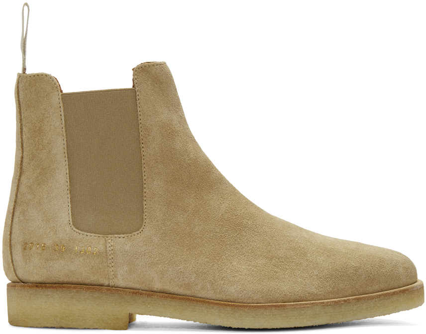 common projects beige suede chelsea boots in multicolour for men beige lyst. Black Bedroom Furniture Sets. Home Design Ideas
