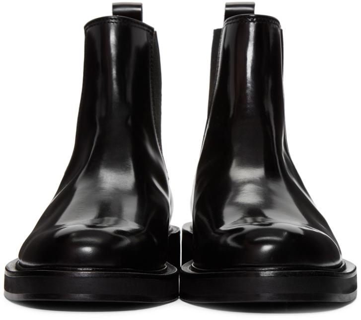 Carven Black Leather Chelsea Boots In Black For Men Lyst