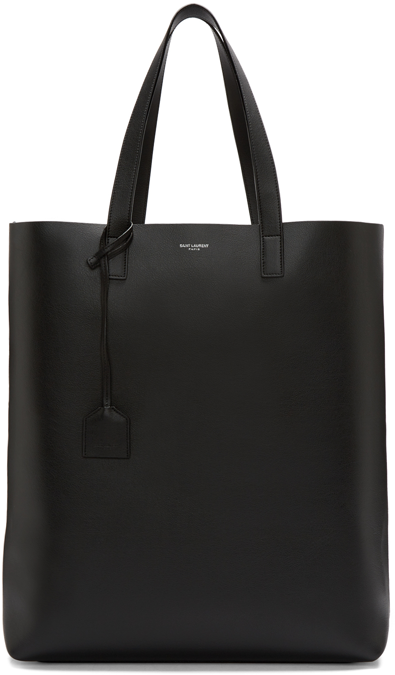 saint laurent black shopping tote in black for men