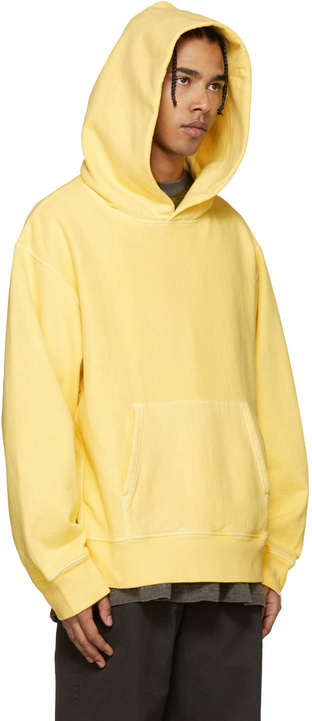 Yeezy Yellow Fleece Hoodie In Yellow For Men Lyst