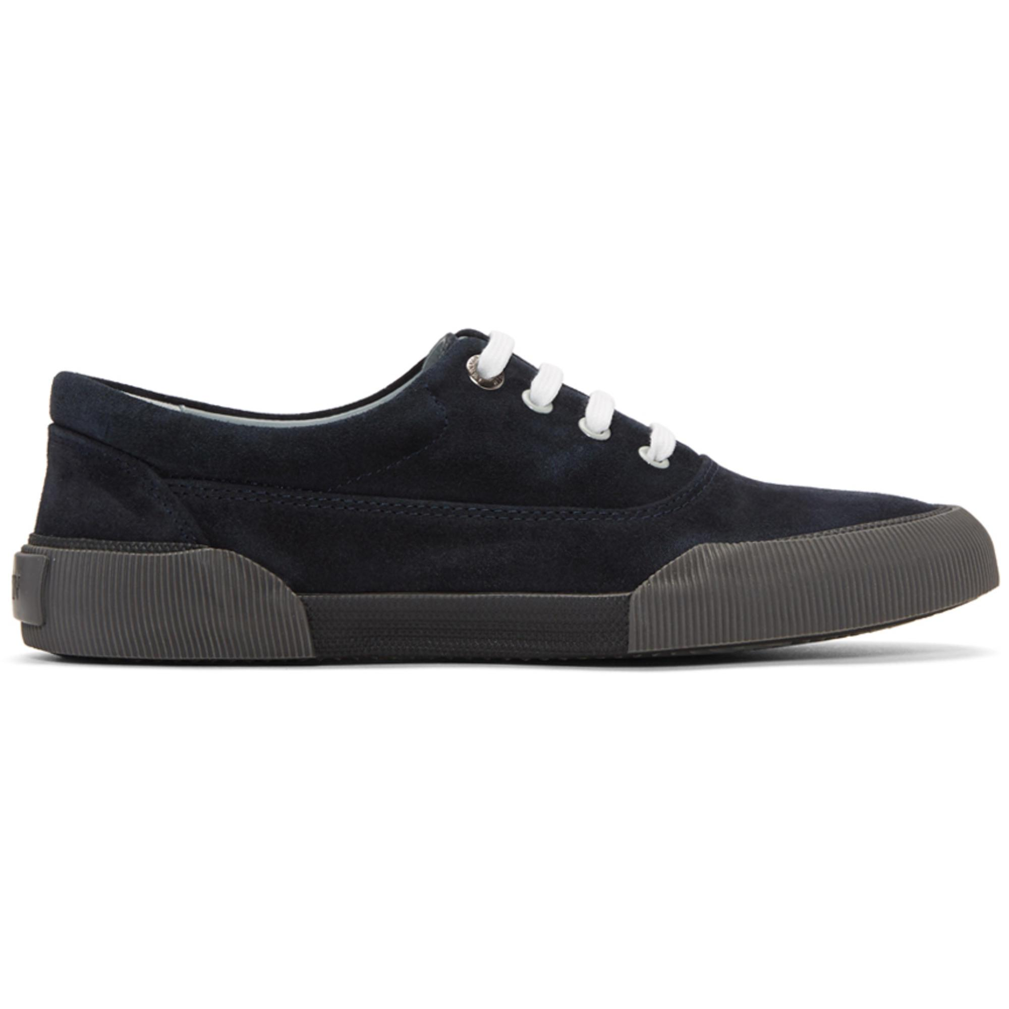 Lanvin Navy Suede Oxford Sneakers f9155uGrZ1