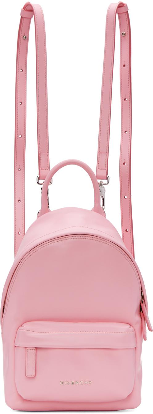 Lyst - Givenchy Pink Nano Leather Backpack in Pink 39f984331ddfe
