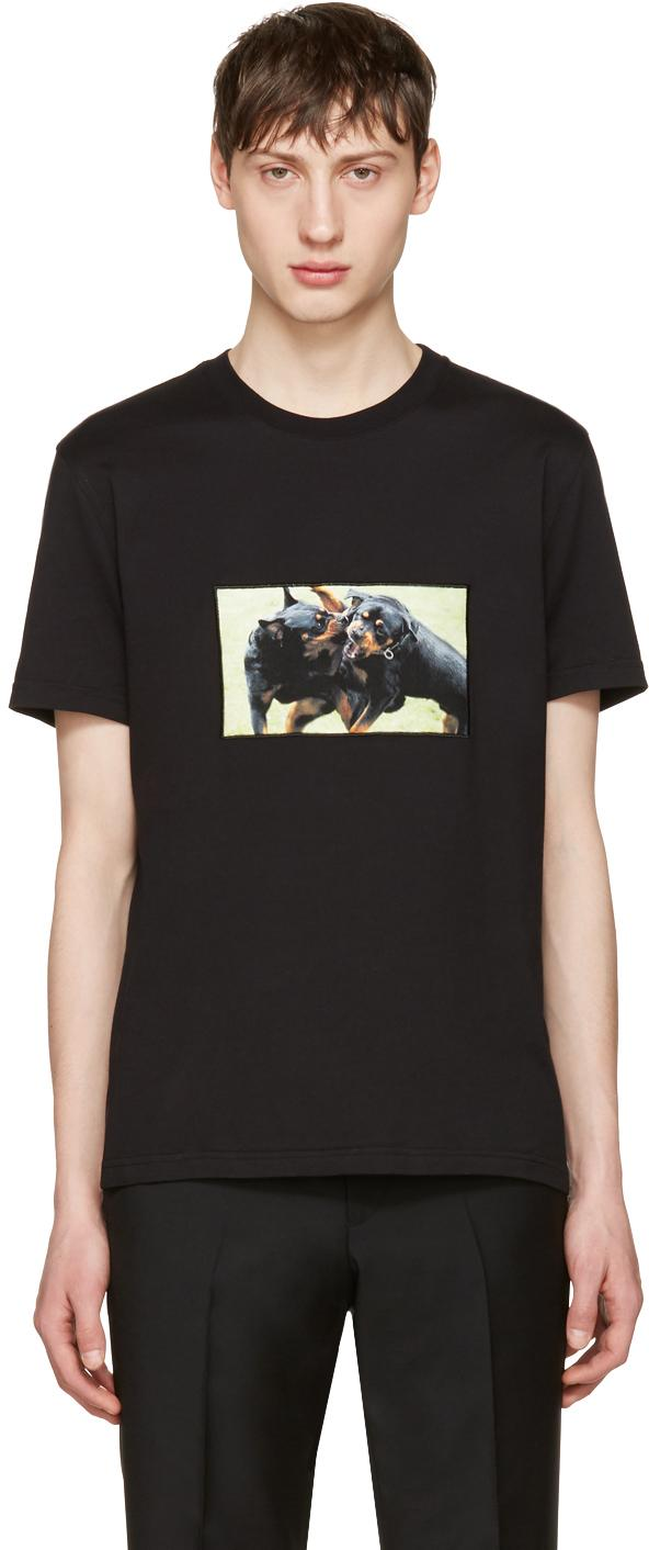 Givenchy black rottweiler t shirt in black for men lyst for Givenchy t shirts for sale