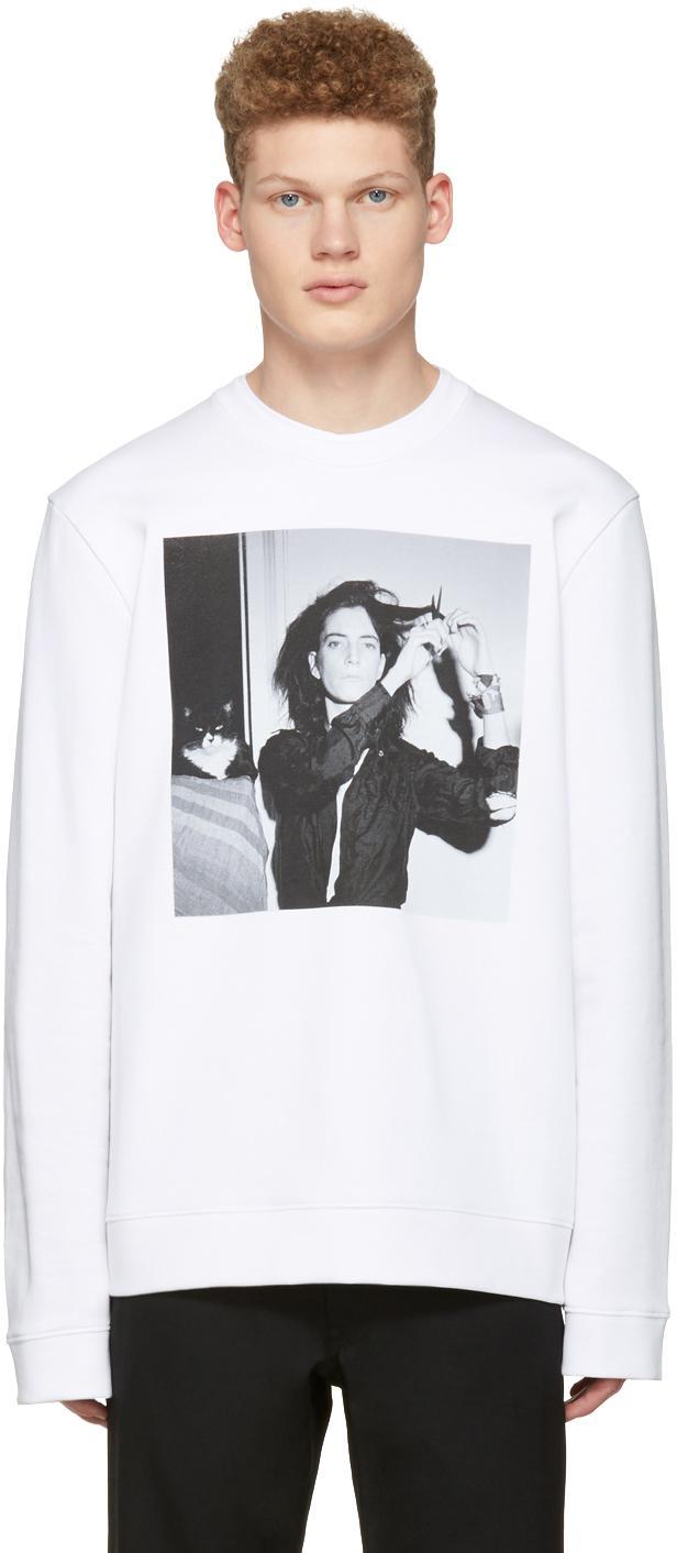 Raf simons white robert mapplethorpe edition patti smith for Raf simons robert mapplethorpe shirt