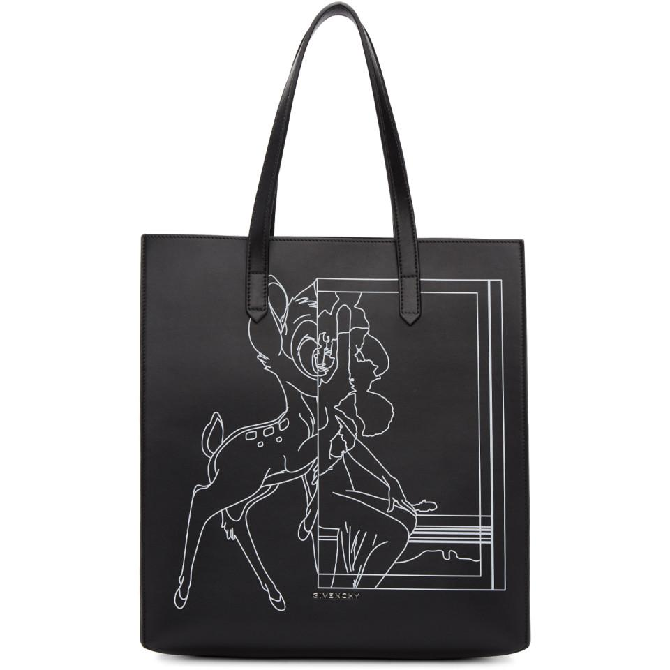 be2c152007 Lyst - Givenchy Black Medium Bambi Stargate Tote in Black