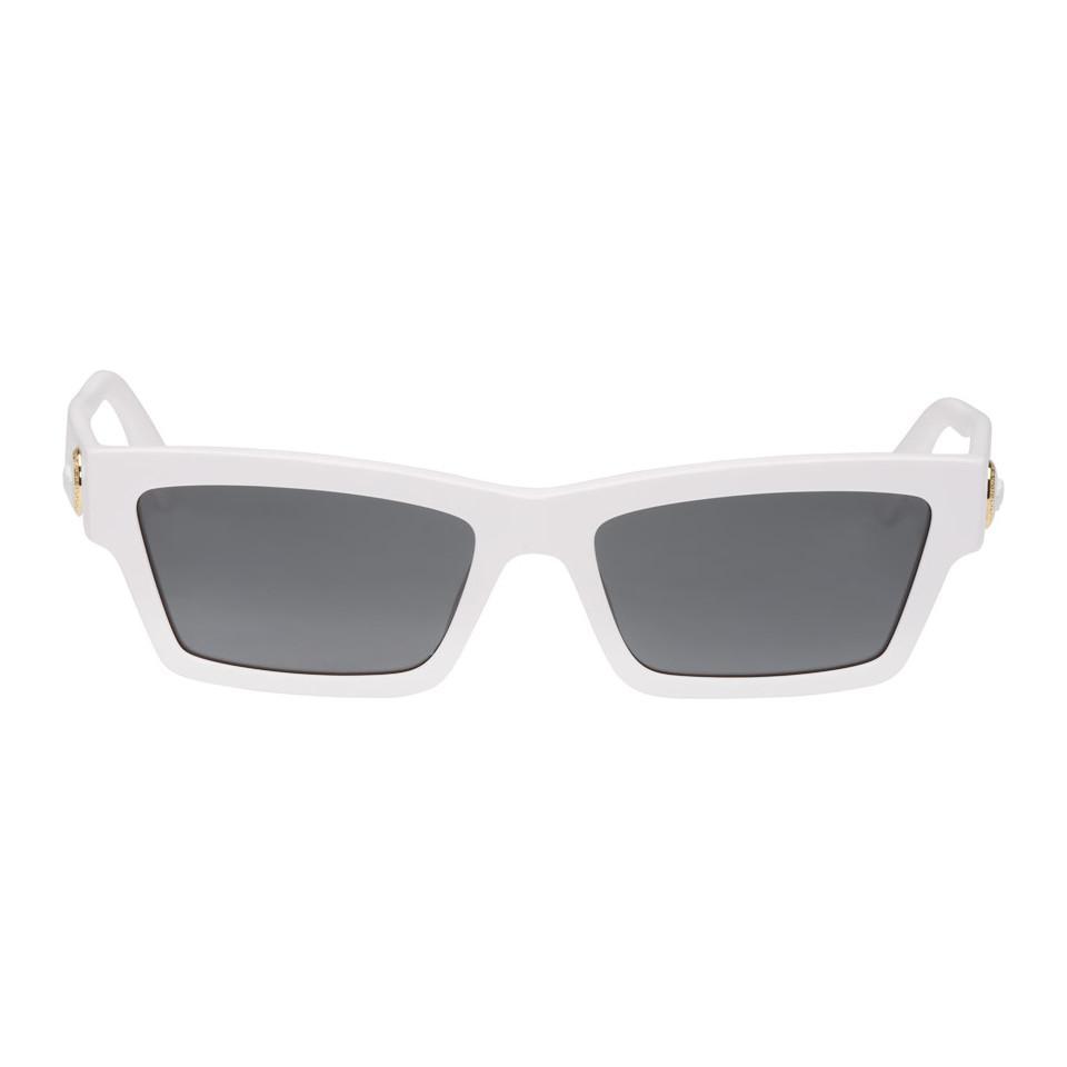 d21812d7b67 Versace - Multicolor White Slim Medusa Sunglasses for Men - Lyst. View  fullscreen