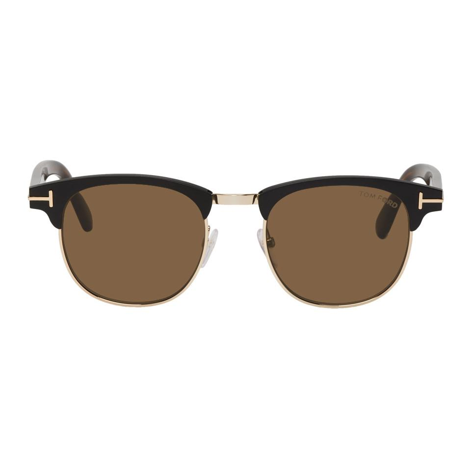 33df942774e Tom Ford - Black And Gold Laurent Sunglasses for Men - Lyst. View fullscreen