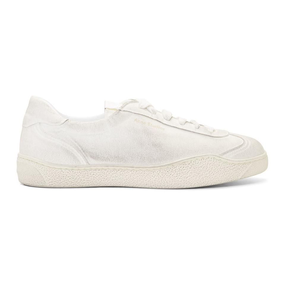 7cc3cf2899fe1 Lyst - Acne Studios White Lars Tumbled Sneakers in White for Men