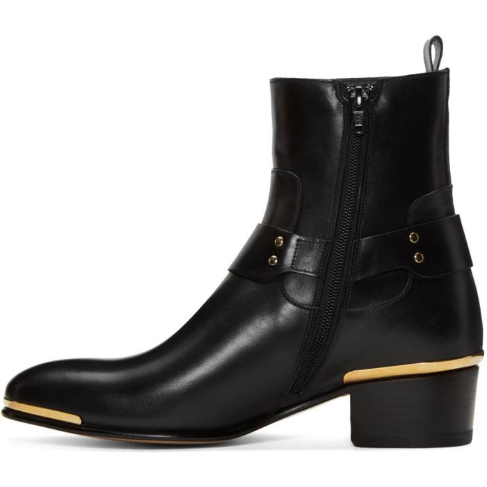0bd7e8bac2 In For Men Medusa Lyst Black Harness Boots Versace n0mw8vN