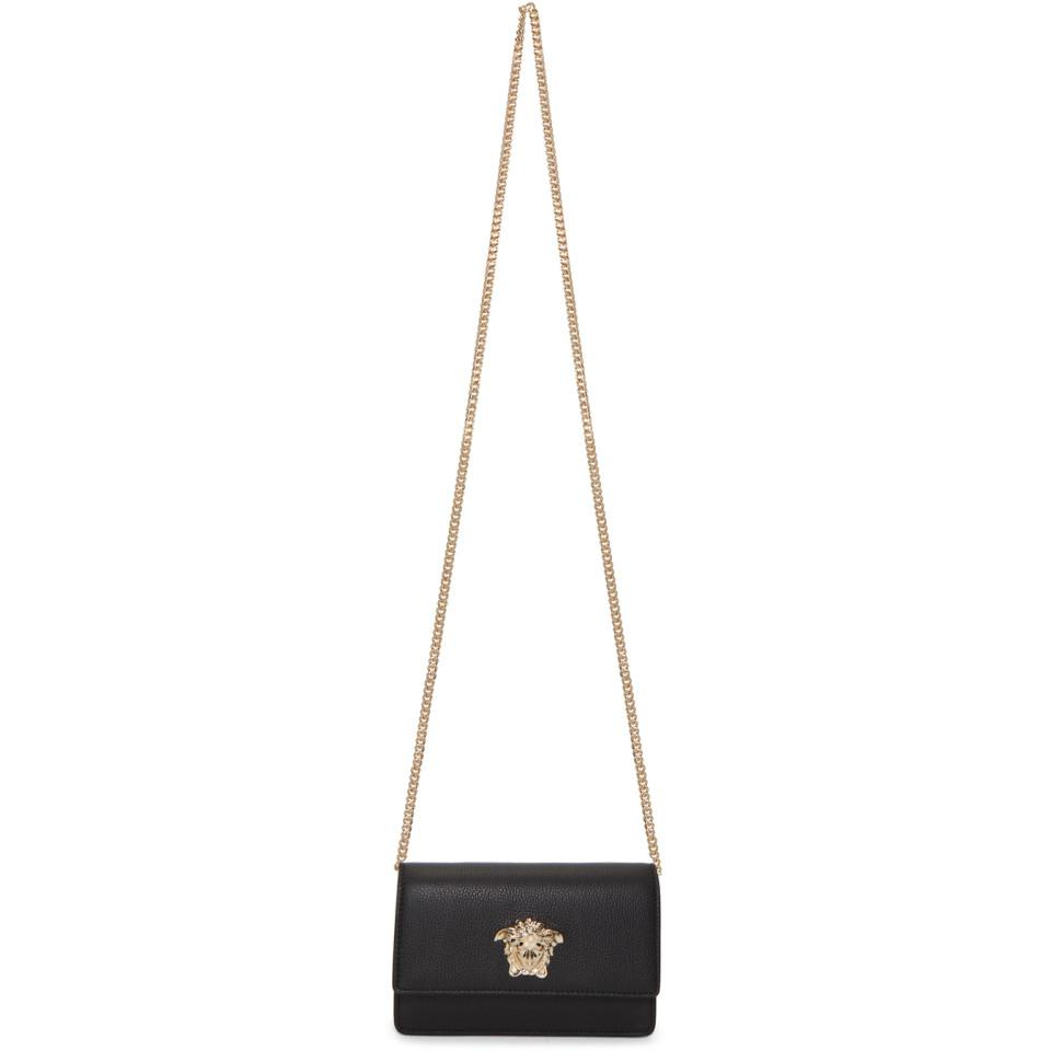 a5c75473e64f Lyst - Versace Black Small Palazzo Chain Bag in Black