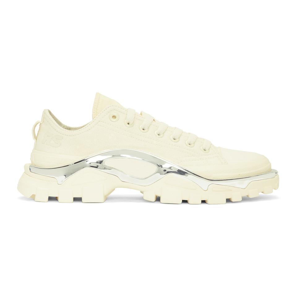 b4f4fd1a36b0 Raf Simons White Adidas Originals Edition Rs Detroit Runner Sneakers ...