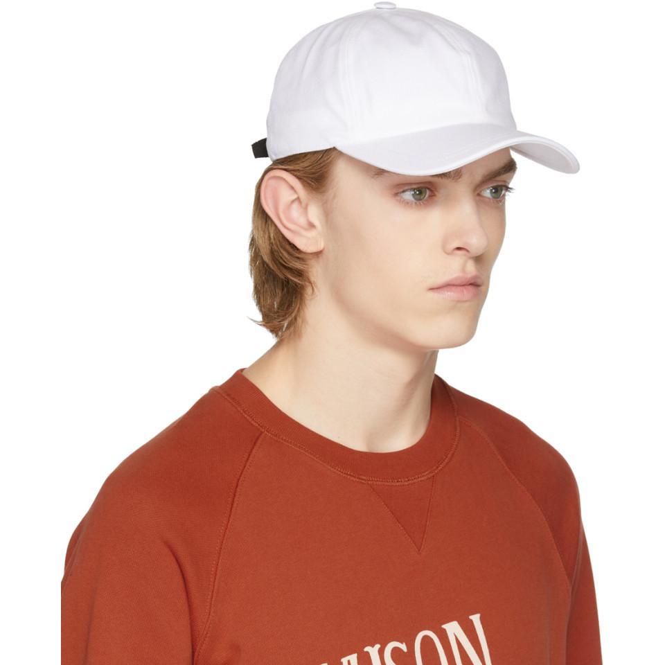 White Fox Logo Cap Maison Kitsun aunhjytVG