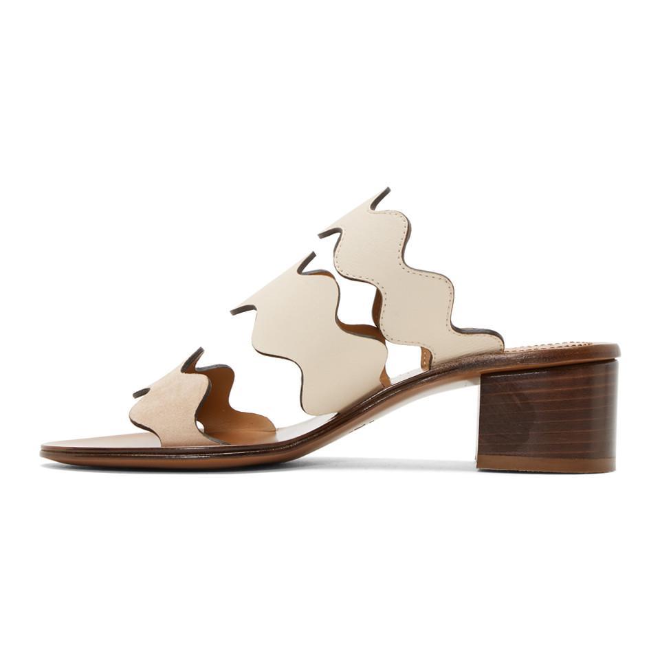 Chloé Ivory & Lauren Heeled Sandals