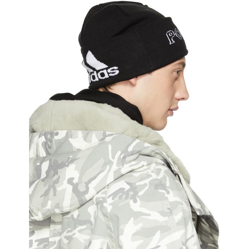 fb7aa224e7880 Gosha Rubchinskiy Black Adidas Originals Edition Knit Beanie in ...