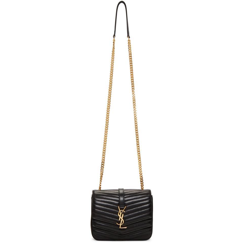 Saint Laurent Black Medium Montaigne Monogramme Chain Bag in Black ... 549745fc04466