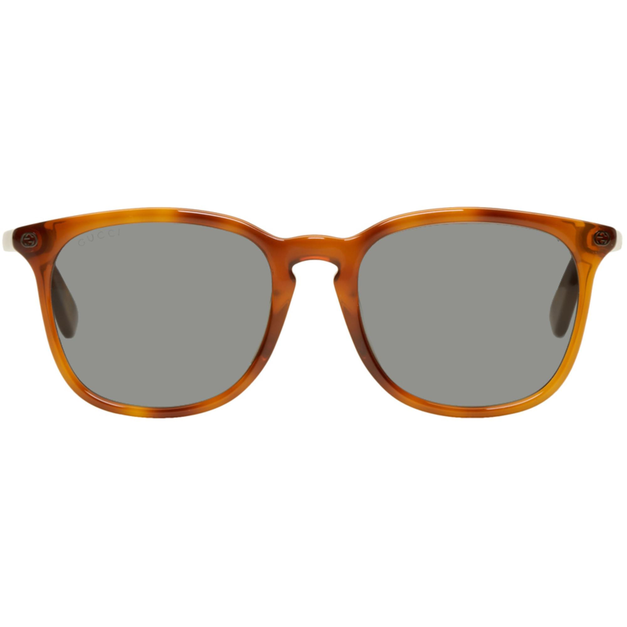 e43d7aa9fb6 Lyst - Gucci Tan Tortoiseshell Square Sunglasses in Brown for Men
