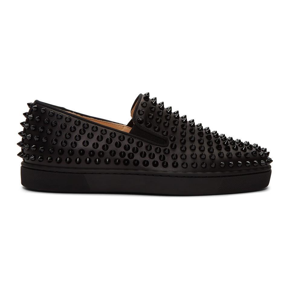 429624c1996 Lyst - Christian Louboutin Black Roller-boat Sneakers in Black for Men