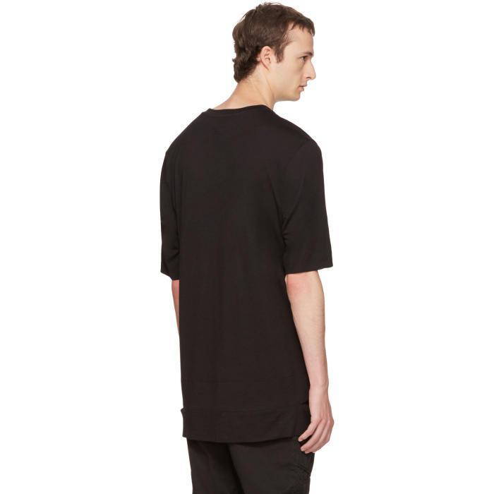 Lyst helmut lang black slash hem t shirt in black for men for Helmut lang t shirt