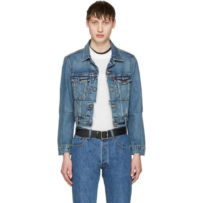 159fc4dcdb2 Lyst - Vetements Blue Levi s Edition Reworked Denim Jacket in Blue ...