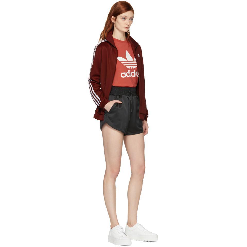 bc49b682121 Lyst - adidas Originals Burgundy Bb Track Jacket in Red