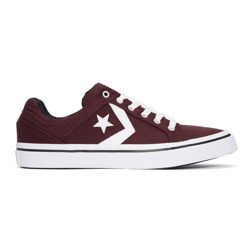 44084a65611f Converse Burgundy El Distrito Ox Sneakers for Men - Lyst