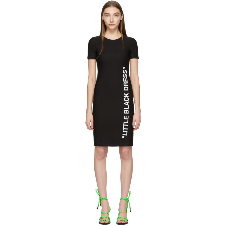Lyst - Off-White c o Virgil Abloh Black Basic Short Dress in Black 2e6969d7f