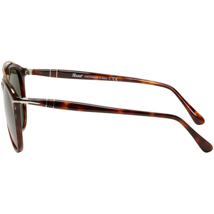 fe4e7448b4 Persol Tortoiseshell Double Bridge Sunglasses for Men - Lyst