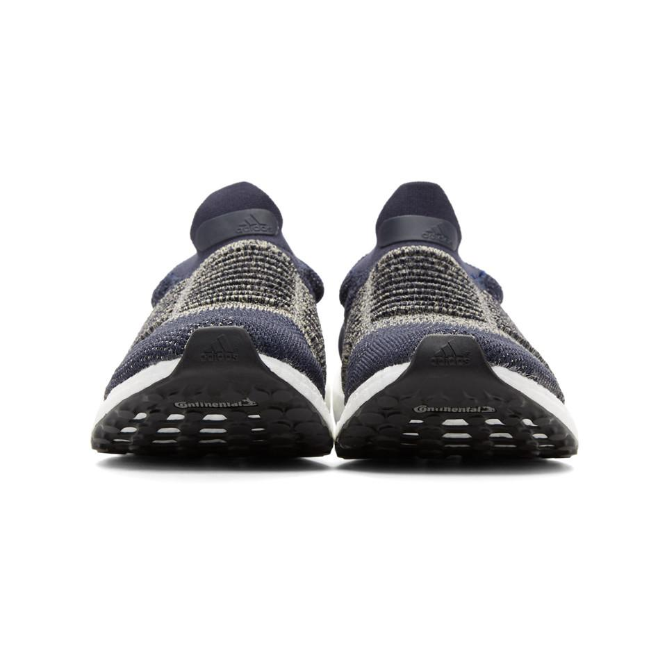 79824e48d04 Lyst - adidas Originals Navy Ultraboost Laceless Sneakers in Blue ...