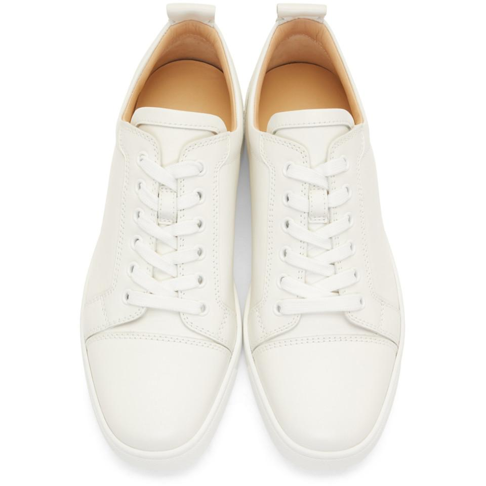 0daa791624f Lyst - Christian Louboutin White Louis Junior Sneakers in White for Men