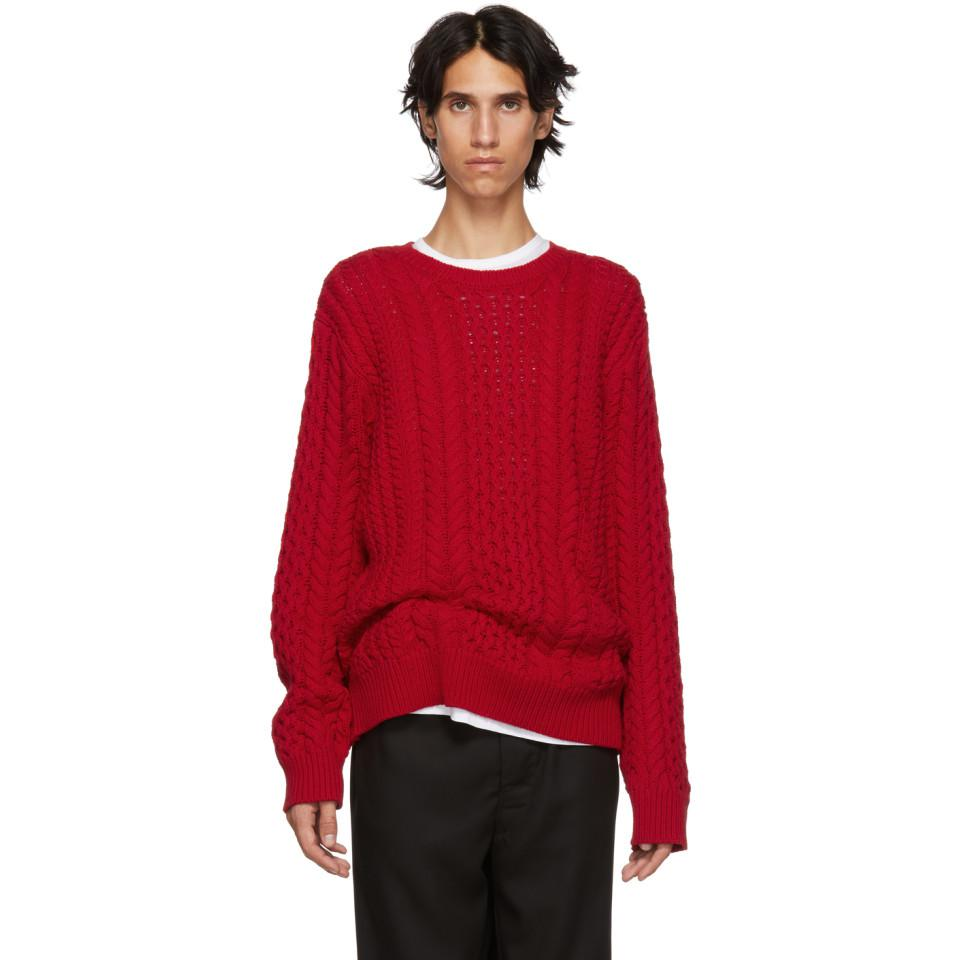 Red Marjan Sies Men's Sweater Lou Cable 0wvHwq