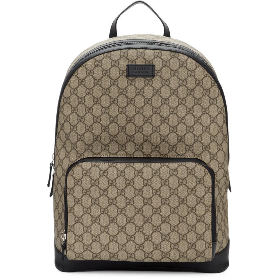 b9c84ef6926b3a Gucci - Natural GG Supreme Backpack for Men - Lyst. View fullscreen