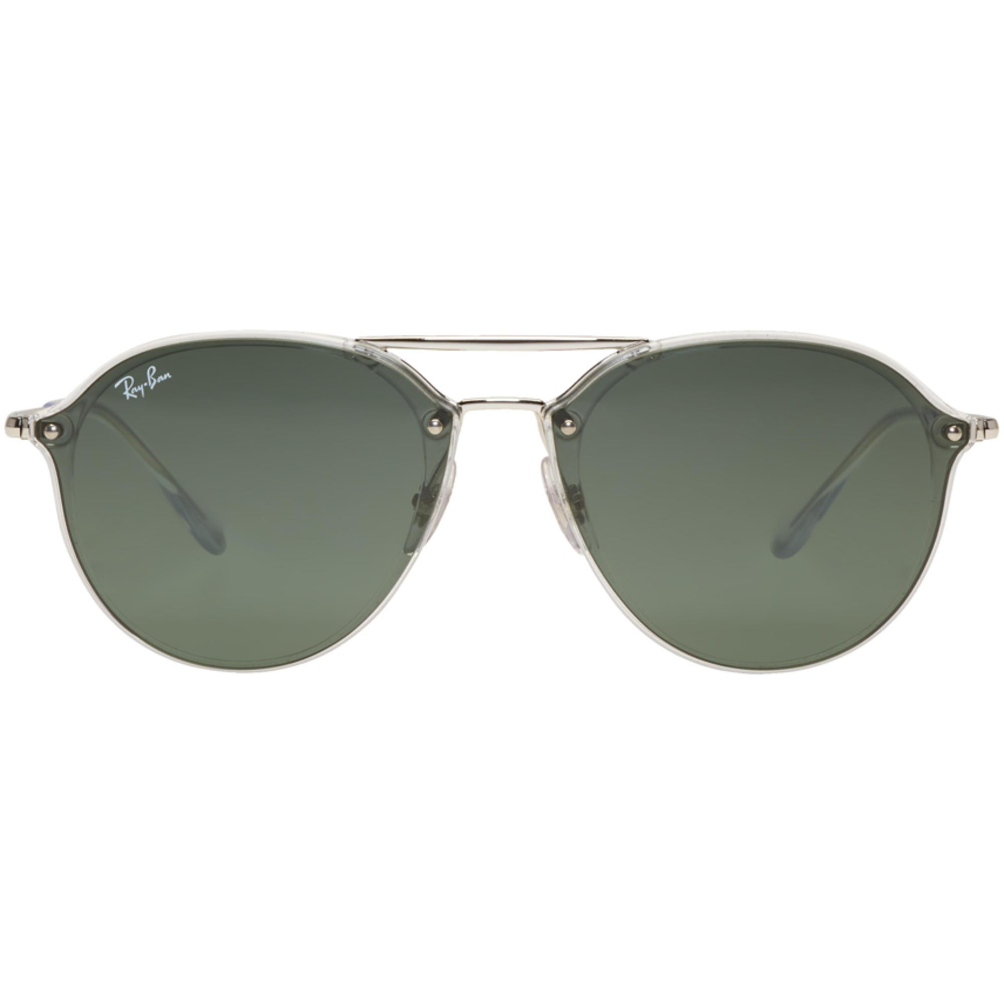 a9fffcb0812 Lyst - Ray-Ban Silver And Green Blaze Sunglasses in Metallic